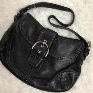 Coach Black Leather Soho Bag